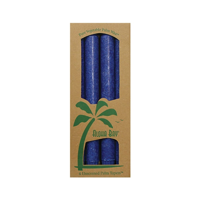 Aloha BayPalm Taper Candles 9 Inch Royal Blue
