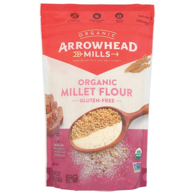Arrowhead Mills Organic Millet Flour 23 oz (652 grams) Pkg