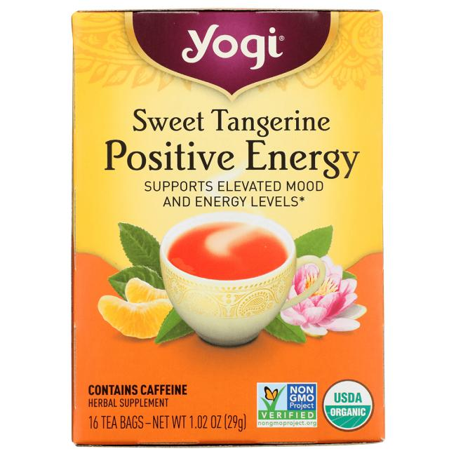 Yogi Tea Sweet Tangerine Positive Energy Tea