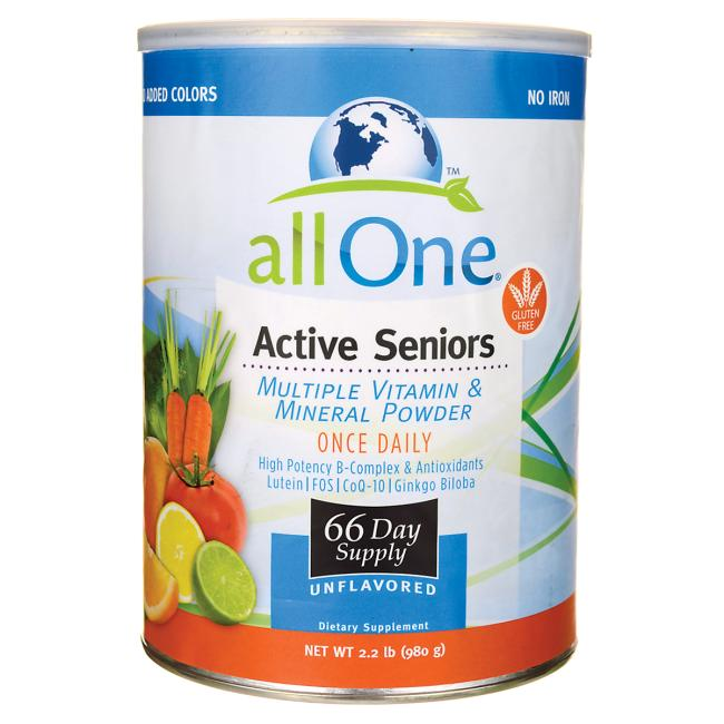 All One Active Seniors Multiple Vitamin & Mineral Powder - Unflavored