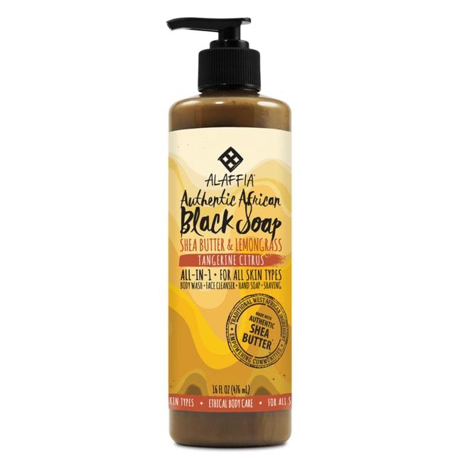 Alaffia Authentic African Black Soap Tangerine Citrus