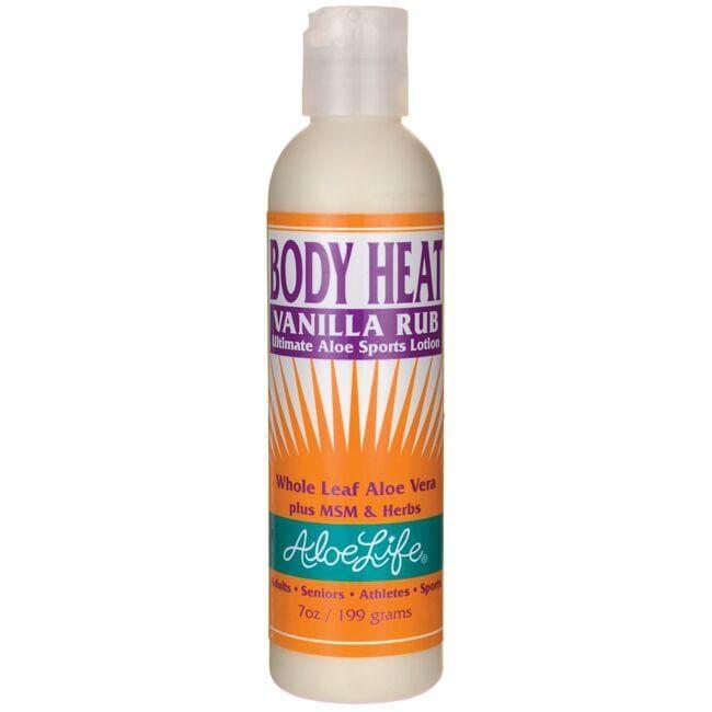 Aloe LifeBody Heat Vanilla Rub Ultimate Aloe Sports Lotion