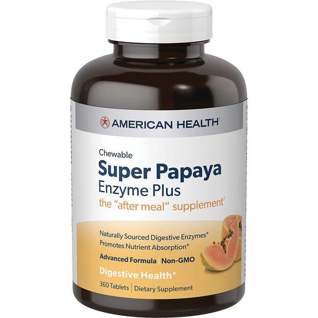 American Health Chewable Super Papaya Enzyme Plus