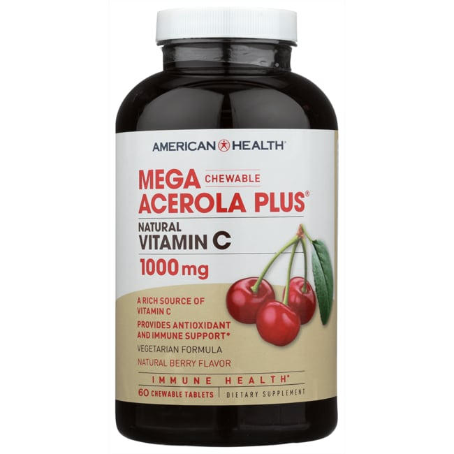American HealthChewable Mega Acerola Plus Vitamin C - Berry Flavor