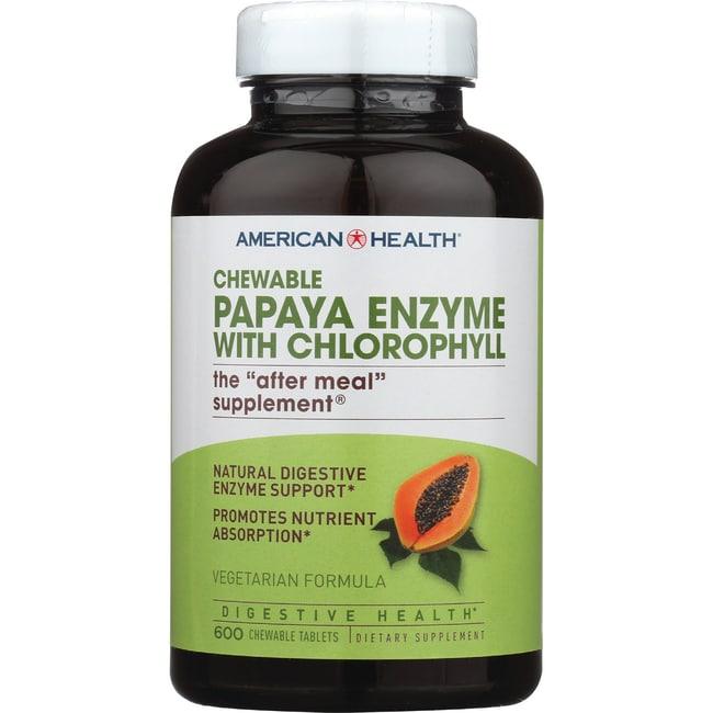 American Health Chewable Papaya Enzyme with Chlorophyll