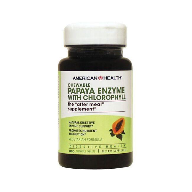 American HealthChewable Papaya Enzyme with Chlorophyll