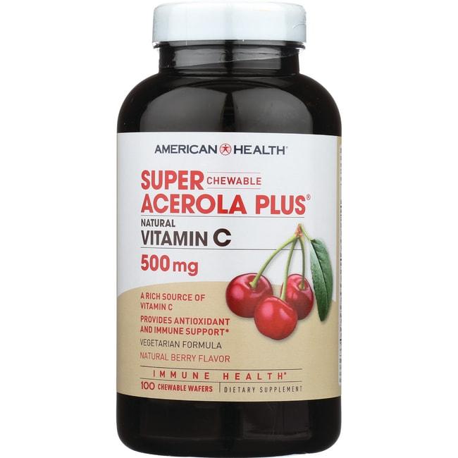 American HealthSuper Acerola Plus Natural Vitamin C - Berry Flavor