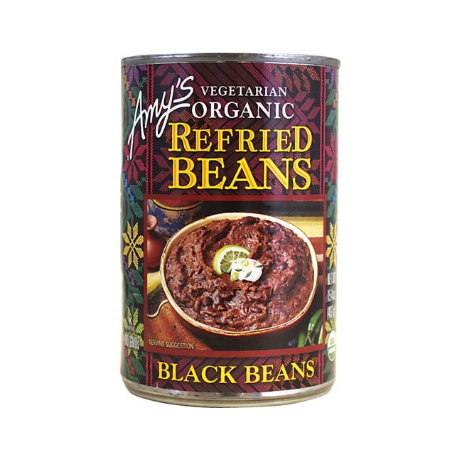 Amy's Kitchen Vegetarian Organic Refried Black Beans 15.4 oz (437 ...