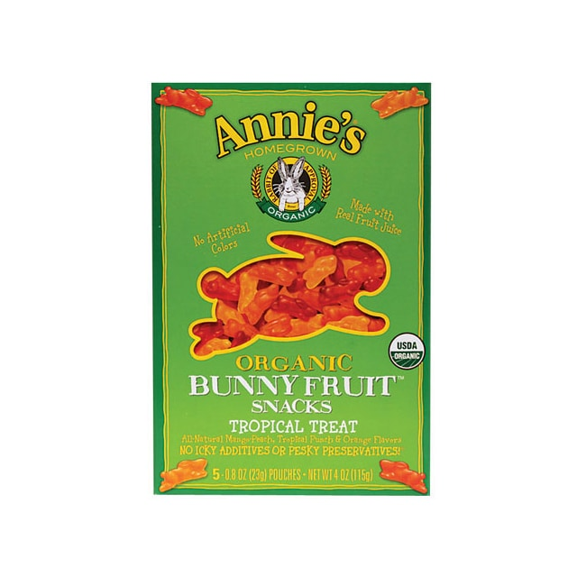 Annie's Organic Bunny Fruit Snacks Tropical Treat
