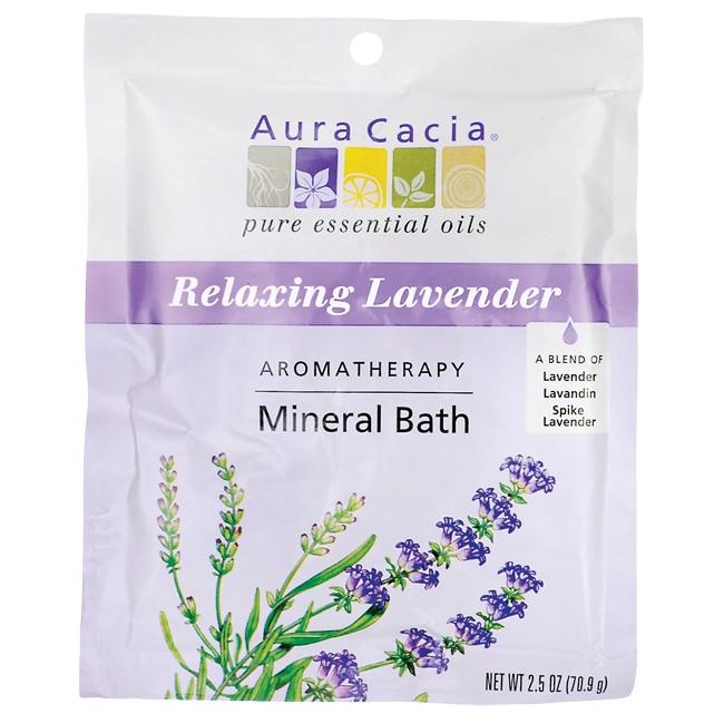 Aura Cacia Mineral Bath - Relaxing Lavender