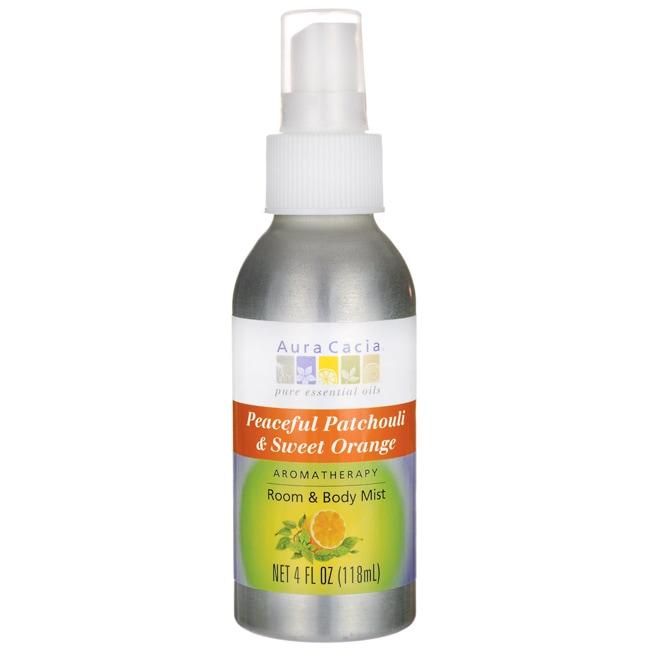 Aura Cacia Room & Body Mist - Peaceful Patchouli & Sweet Orange