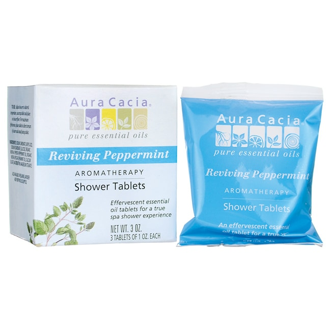 Aura CaciaShower Tablets Reviving Peppermint