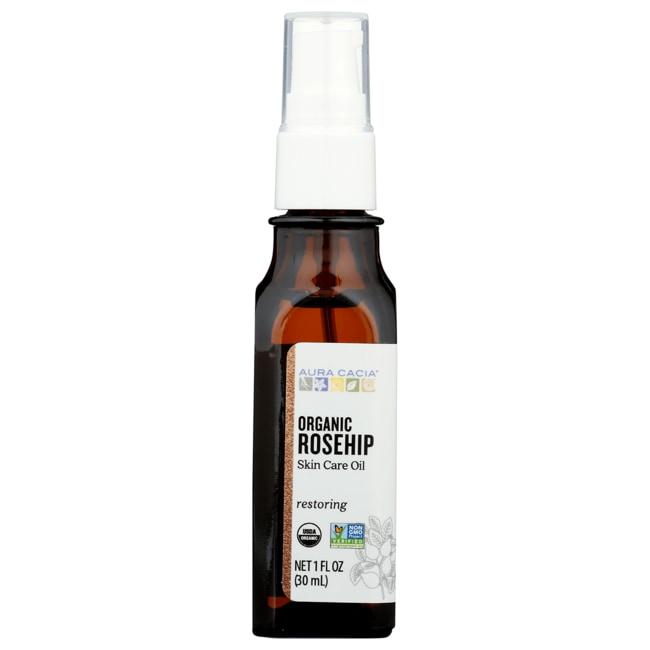 Aura Cacia Organic Rosehip Oil With Vitamin E 1 Fl Oz (30