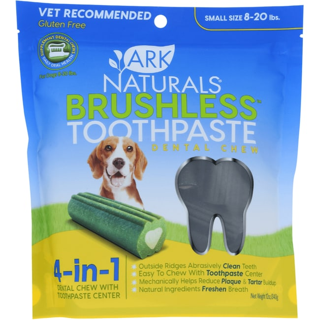 Ark NaturalsBreath-Less Chewable Brushless-ToothPaste - Sm/M Dog