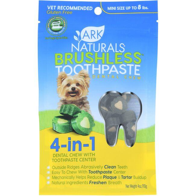 Ark Naturals Breath-Less Chewable Brushless-ToothPaste - Mini/Sm Breeds