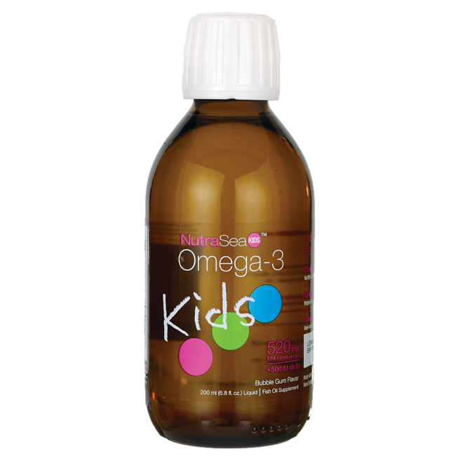 Ascenta Health NutraSea Kids Omega-3 + Vitamin D - Bubble Gum Flavor