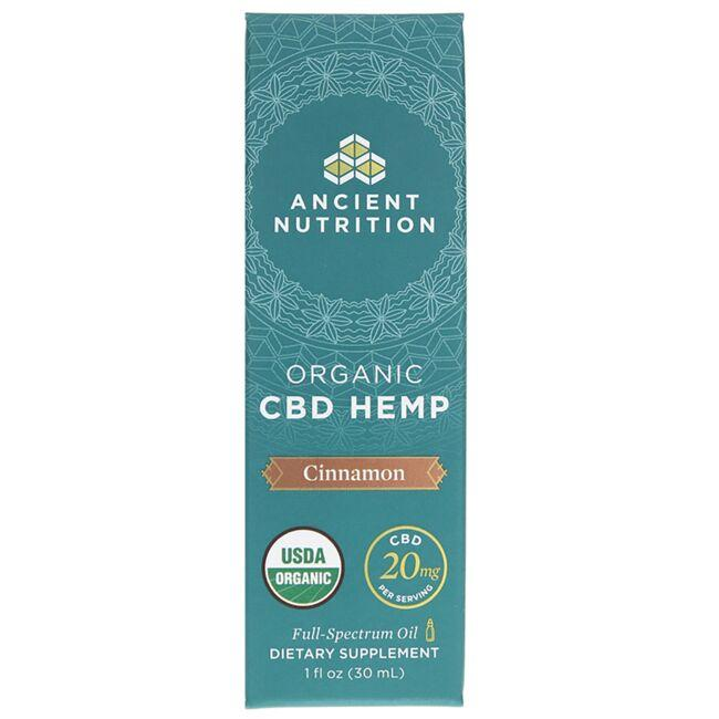 Ancient Nutrition Organic CBD Hemp Oil - Cinnamon