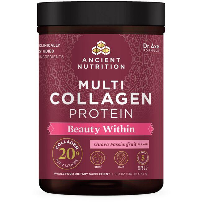 Ancient Nutrition Multi Collagen Protein Beauty Within - Guava Passionfruit
