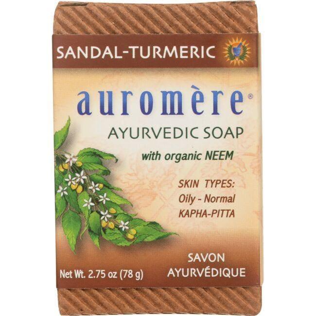 AuromereAyurvedic Bar Soap Sandalwood-Turmeric
