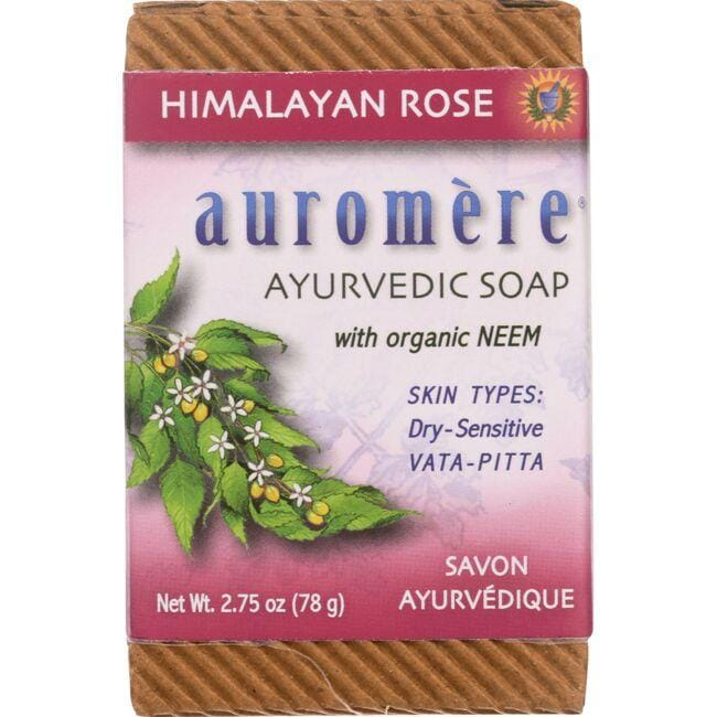 Auromere Ayurvedic Bar Soap Himalayan Rose