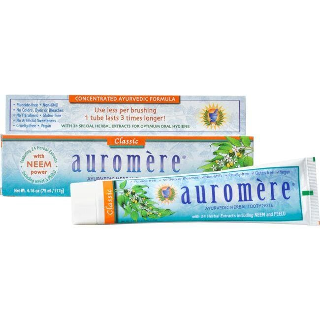Auromere Ayurvedic Herbal Toothpaste - Classic