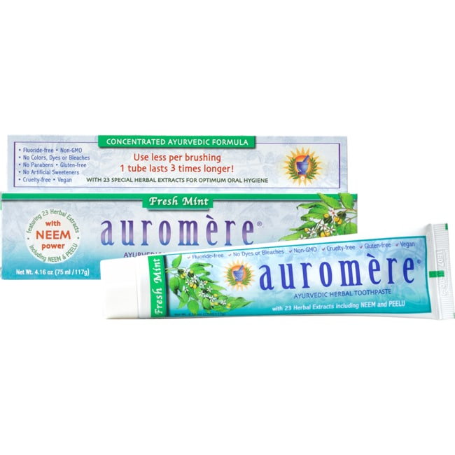 AuromereAyurvedic Herbal Toothpaste Fresh Mint