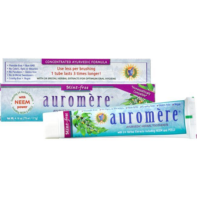 AuromereAyurvedic Herbal Toothpaste Mint-Free