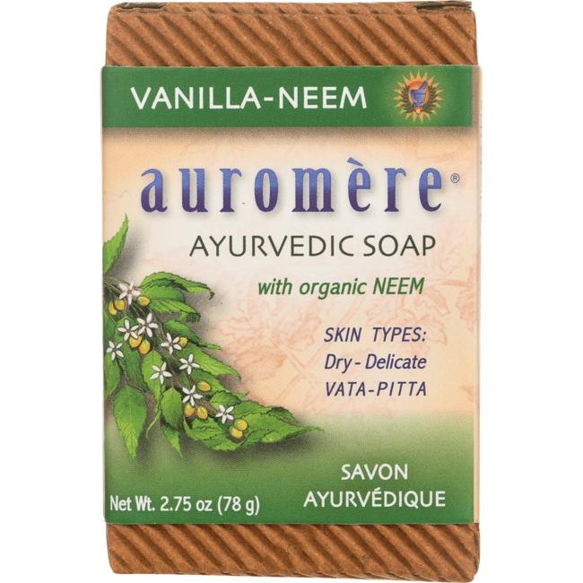Auromere Ayurvedic Bar Soap Vanilla Neem