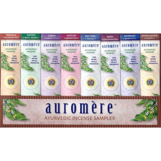 Auromere Ayurvedic Masala Preparation 8-Fragrance Sampler