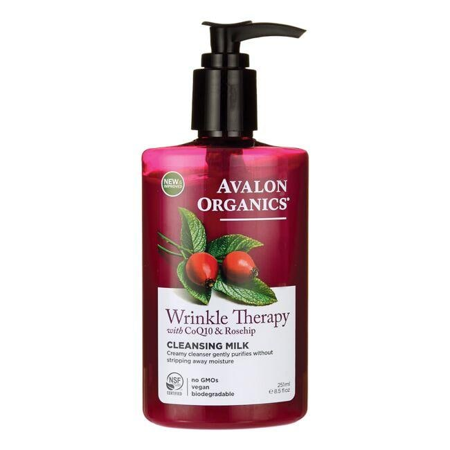 Avalon Organics Wrinkle Therapy with CoQ10 & Rosehip - Cleansing Milk