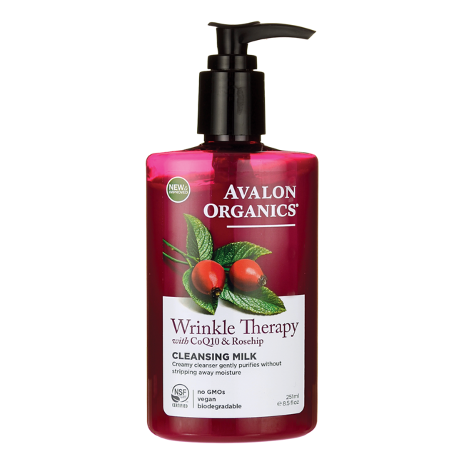 Avalon OrganicsWrinkle Therapy with CoQ10 & Rosehip Cleansing Milk