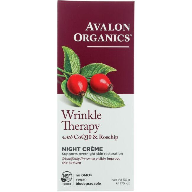 Avalon Organics Wrinkle Therapy with CoQ10 & Rosehip - Night Creme