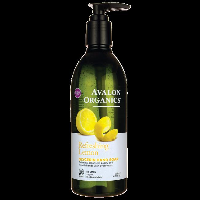 Avalon Organics Glycerin Liquid Hand Soap Lemon 12 Fl Oz