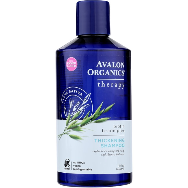 Avalon Organics Thickening Shampoo Biotin B-Complex Therapy