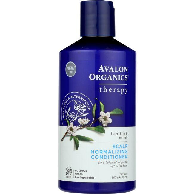 Avalon Organics Scalp Normalizing Conditioner - Tea Tree Mint Therapy