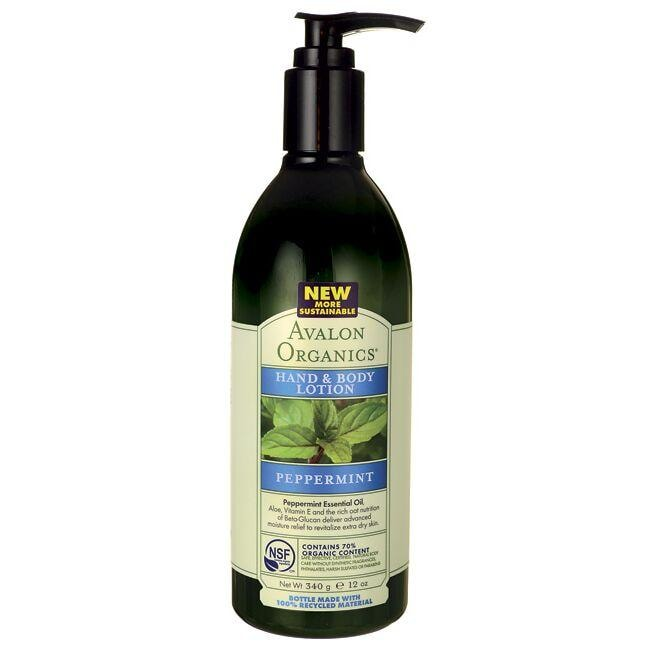 Avalon Organics Hand & Body Lotion - Peppermint