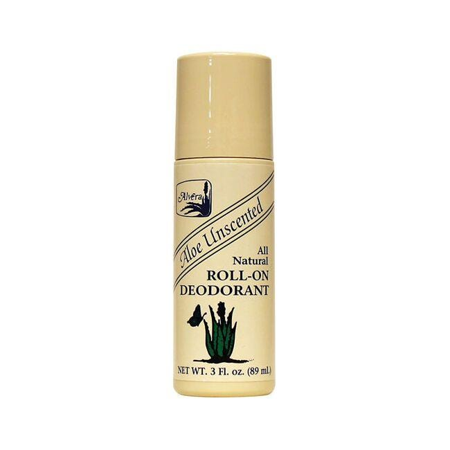 Alvera All Natural Roll-On Deodorant Aloe Unscented