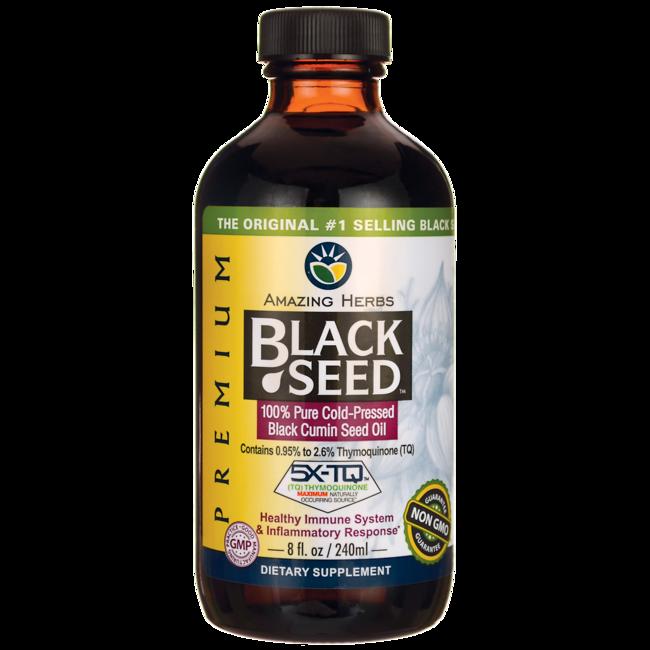 Amazing HerbsBlack Seed 100% Pure Cold-Pressed Black Cumin Seed Oil