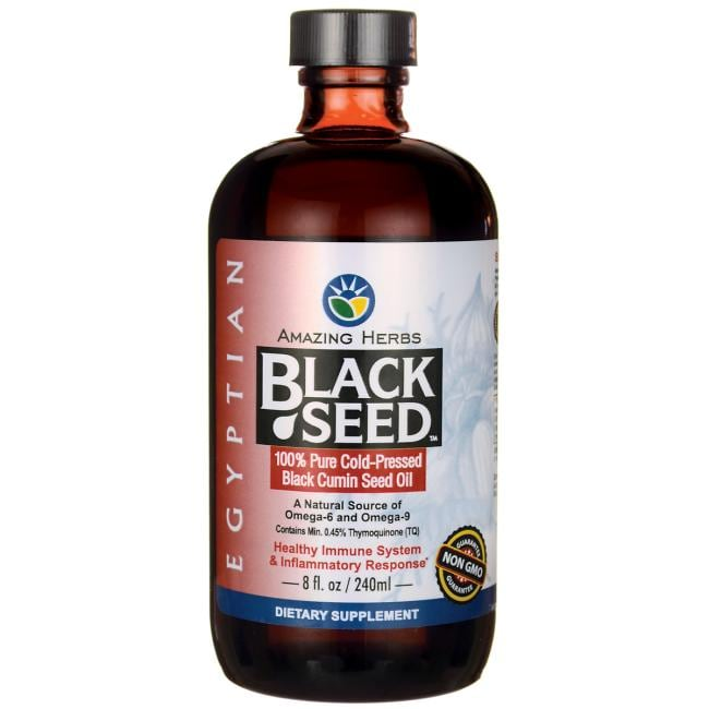 Amazing Herbs Egyptian Black Seed Cold-Pressed Oil