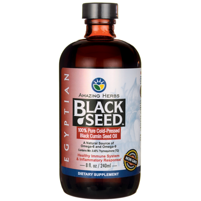 Amazing HerbsEgyptian Black Seed Cold-Pressed Oil