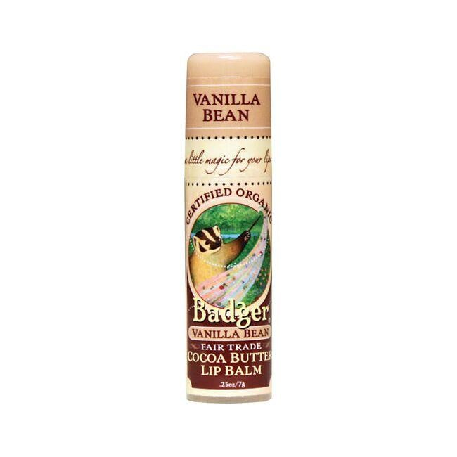 BadgerOrganic Cocoa Butter Lip Balm - Vanilla Bean