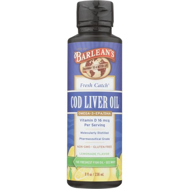 Barlean's Fresh Catch Cod Liver Oil - Lemonade Flavor