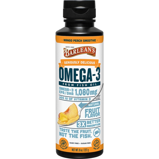 Barlean'sOmega Swirl Fish Oil Mango Peach