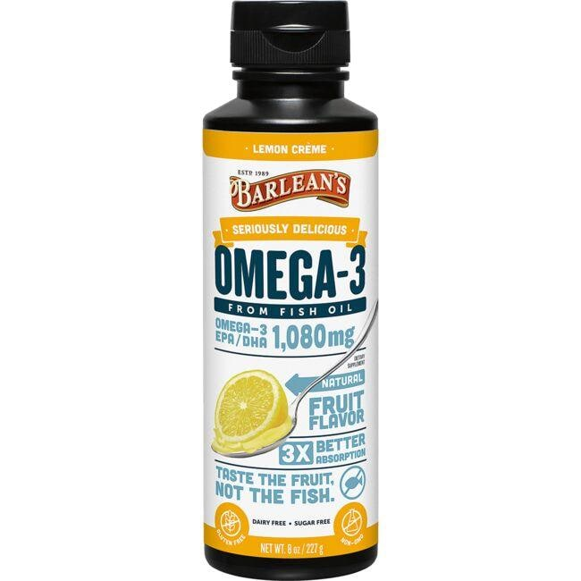 Barlean'sOmega Swirl Fish Oil Lemon Zest
