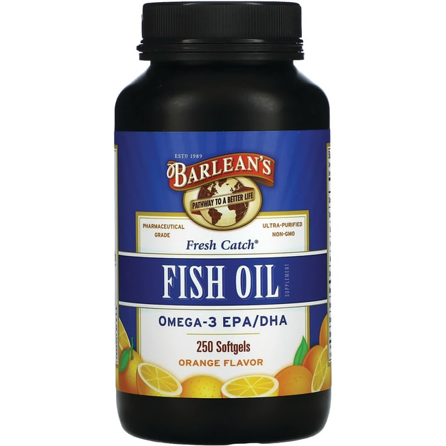 Barlean 39 s fish oil orange flavor 250 sgels swanson for Barleans fish oil reviews