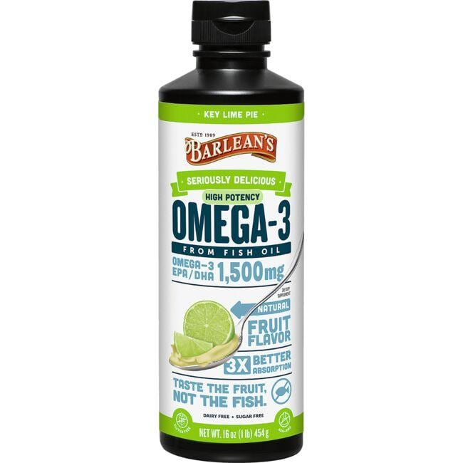 Barlean's High Potency Omega-3 - Key Lime Pie