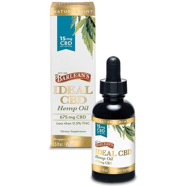 Barlean's Ideal CBD Hemp Oil - Mint