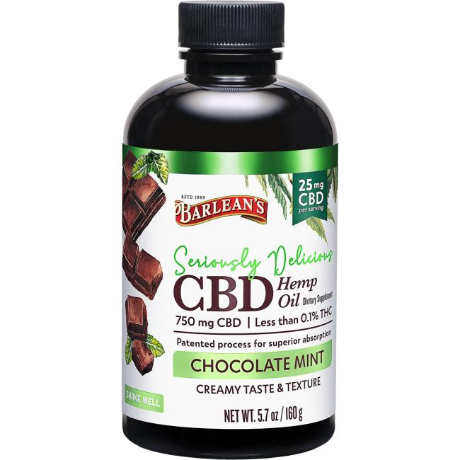 Barlean's Seriously Delicious CBD Hemp Oil - Chocolate Mint