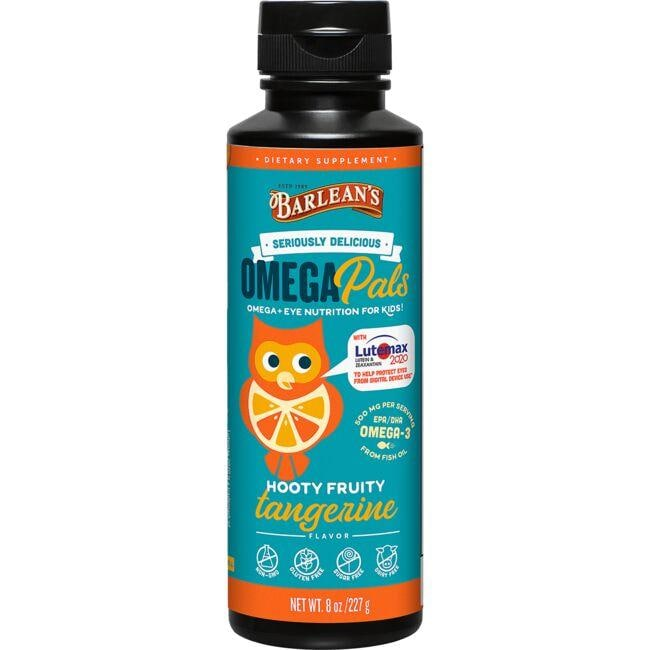 Barlean's Omega Pals for Kids w/Lutemax - Hooty Fruity Tangerine