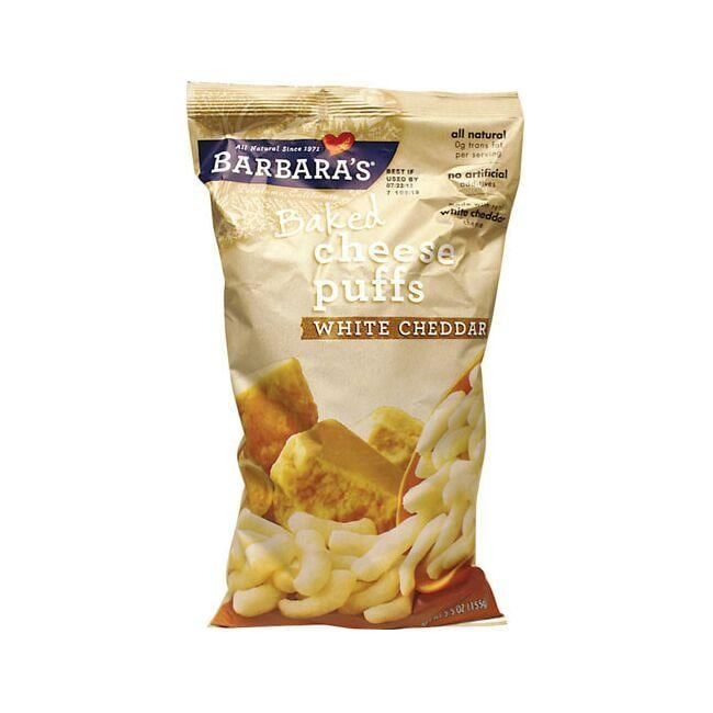 Barbara's Bakery Baked Cheese Puffs White Cheddar